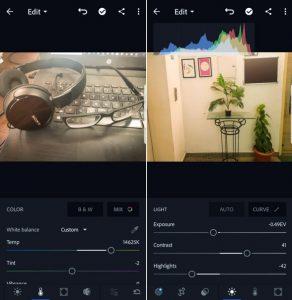 Adobe Photoshop Express or Lightroom